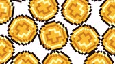 Big Falling 8-Bit Videogame Coins On White Background. Ideal For Your Gaming  Money projects. High-Quality Animation, 4K, 60fps