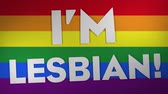 I m Lesbian On Rainbow, Paper Textured Background. Ideal For Your Homosexuality  Pride Related Projects. 4K, 24fps.