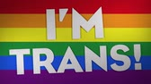 I m Trans On Rainbow, Paper Textured Background. Ideal For Your Homosexuality  Pride Related Projects. 4K, 24fps.