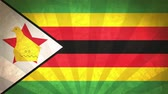 sunlights : Flag Of Zimbabwe. Paper Texture, With Seamlessly Spinning Printed Like Sunrays. High-Quality, Detailed Animation. 4K, 60fps