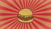 ジャンク : Hand Drawn Hamburger Sunray Background. Ideal for your Fast  Junk Food Related Projects. High-Quality Animation. 4K 60fps 動画素材