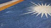 マーシャル : Flag Of The Marshall Islands. Close-Up On Wood, Shallow Depth Of Field, Seamless Loop. High-Quality Animation. Ideal for Your Country  Travel  Political Related Projects. 1080p, 60fps. 動画素材
