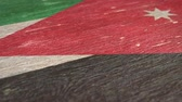 jordanien : Flag Of Jordan. Close-Up On Wood, Shallow Depth Of Field, Seamless Loop. High-Quality Animation. Ideal for Your Country  Travel  Political Related Projects. 1080p, 60fps. Videos