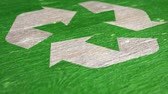 bidone : Green Recycle Sign. Ideal for Your Recycling  Ecology Projects. High Quality Seamless Animation. 1080p, 60fps