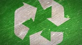 texturált : Green Recycle Sign. Ideal for Your Recycling  Ecology Projects. High Quality Seamless Animation. 4K, 60fps