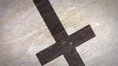 simbolismo : Cross - Christian Symbol On A Wodden Texture. Ideal for Your Jesus  Christianity  Religion Related Projects. High Quality Seamless Animation. 4K, 60fps