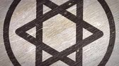 planche de bois : Star Of David  Magen - Jewish Symbol On The Wodden Texture. Ideal for Your Judaism  Religion Related Projects. High Quality Seamless Animation. 4K, 60fps Vidéos Libres De Droits