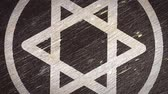 judaísmo : Star Of David  Magen - Jewish Symbol On The Wodden Texture. Ideal for Your Judaism  Religion Related Projects. High Quality Seamless Animation. 4K, 60fps Vídeos