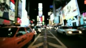 vezes : Blurred view of Times Square
