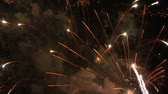 independence : Fireworks against a night sky Stock Footage
