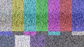 estragado : Static on a color bar test pattern on TV
