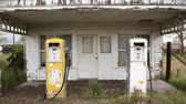 antiquated : Old fashioned gas pumps