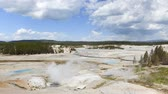 beroemd : Time lapse, Norris Geyser Basin, Yellowstone National Park