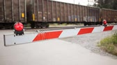 скрестив : Freight train crossing with high quality audio included