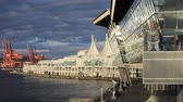 middelpunt : Waterfront, Canada Place en congrescentrum (voorheen Olympische Media Center) Vancouver, BC