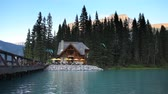 yoho : In Yoho National Park, a lakeside restaurant, British Columbia, Canada Stock Footage