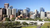 pontes : Traffic going into Downtown Calgary
