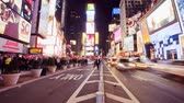 New Yorks Time Square at night, time lapse Stock Footage