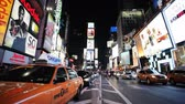 New Yorks Time Square at night Stock Footage