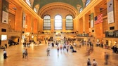 Commuters in New York Citys Grand Central Station, time lapse