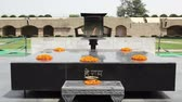 mahatma : Raj Ghat is a memorial to Mahatma Gandhi placed on the site of his cremation in 1948, Delhi, Punjab, India Stock Footage
