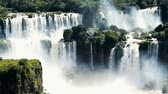 Аргентина : Scene from iguazu iguassu Waterfalls Brazil South America Стоковые видеозаписи