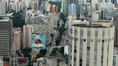 brasil : Scene from Brazil South America Slow Motion of Sao Paulo skyline Stock Footage