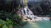 coisa : Scene from Luang Prabang Laos South East Asia Slow Motion Kuang Si Falls Vídeos