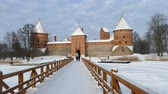 litwa : Scene from Vilnius Lithuania Europe of Trakai Castle in Winter