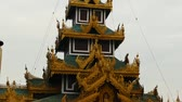 dagon : Scene from Yangoon Myanmar South East Asia of golden pagoda and religious site