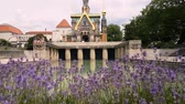 jesus : 4K Slow Pan of St. Maria Magdalena Cathedral Church Mid Day at Darmstadt Germany 3840x2160 Stock Footage