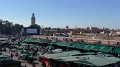 marroquino : Jemaa el-Fna Market Stalls Central Square Souk Shopping Marrakesh Morocco