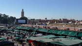 sıra : Jemaa el-Fna Market Stalls Central Square Souk Shopping Marrakesh Morocco