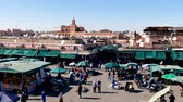 Jemaa el-Fna Market Stalls Central Square Souk Shopping Marrakesh Morocco