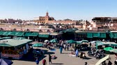 марокканский : Jemaa el-Fna Market Stalls Central Square Souk Shopping Marrakesh Morocco