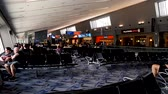 слот : Las Vegas, United States - April 19, 2019: View of inside Las Vegas McCarran Airport Terminal Departure Gate waiting to board flight
