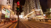 Zeitraffer des Verkehrs in Causeway Bay, Hong Kong Videos