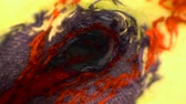 stampa : Inside the sock. Colourful macro dolly shot of an inside of sock texture. Gliding through the sock Filmati Stock