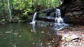 shale : Rock River Falls in the Upper Peninsula of Michigan, near Chatham Stock Footage