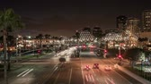 motion blur : Time lapse traffic in motion blur at Shoreline Drive in Long Beach, California