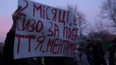 manchete : Riots in Ukraine - March of the strikers (procession). Vídeos