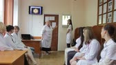 internovat : ODESSA, UKRAINE - The 10 th of May 2015. Medical symposium of doctors in the City Hospital No 11. The interns of medical university in studying process. Dostupné videozáznamy