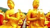 bem aventurado : Dolly: Golden Buddha at Buddha Memorial park , Nakornnayok, Thailand, HD 1080P