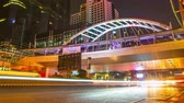 sathorn : 4K: Timelapse, Traffic and transportation in bangkok cityscape at night, High quality, Ultra HD, 4096x2304