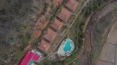 배낭 여행 : Aerial: Hotel in Madagascar from above