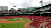 enemy : BOSTON, USA, SEPT. 10: Inside view of Bostons Fenway Park. It is the oldest ballpark in MLB in Boston on Sept 10, 2016. Stock Footage
