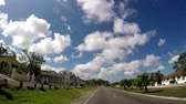 POV of Famous Bay Street neighborhood in Downtown Nassau of The Bahamas Stock Footage