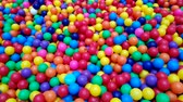 Colorful balls (ball, pool, park) Stok Video