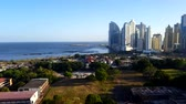 Stunning view of Panama City skyline with the pacific ocean view.