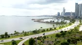 panama city : Panama city center skyline and bay of Panama. Stock Footage